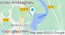 Plan Carte Piscine Aquaparc à Montalieu-Vercieu