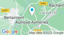 Plan Carte Centre Aquatique L'Aiguade - Piscine à Aulnoye Aymeries