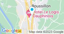 Plan Carte Piscine Charly-Kirakossian à Roussillon
