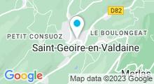 Plan Carte Piscine de la Combe à St Geoire en Valdaine