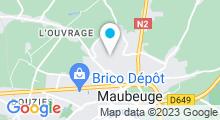 Plan Carte Piscine Epinette à Maubeuge