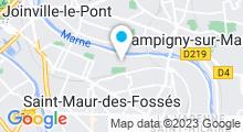 Plan Carte Piscine Brossolette à Saint-Maur-des-Fossés
