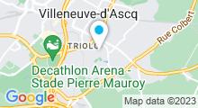 Plan Carte Piscine du Triolo à Villeneuve d'Ascq