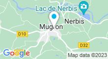 Plan Carte Base de loisirs de la Saucille à Mugron