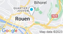 Plan Carte Piscine Boulingrin à Rouen