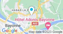 Plan Carte Centre aquatique des Hauts de Bayonne - Piscine à Bayonne