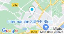 Plan Carte Piscine Tournesol à Blois