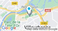 Plan Carte Piscine inter-universitaire de la Doua à Villeurbanne
