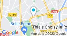 Plan Carte Piscine Monique Berlioux à Thiais