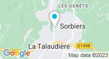 Plan Carte Piscine du Val d'Onzon à Sorbiers