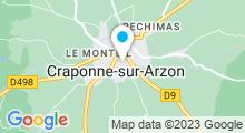 Plan Carte Piscine à Craponne sur Arzon