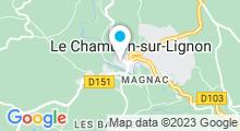 Plan Carte Piscine école à Le Chambon sur Lignon