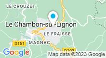 Plan Carte Piscine du Fraisse à Chambon sur Lignon