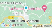 Plan Carte Piscine à St Julien Chapteuil