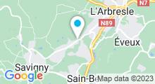 Plan Carte L'Archipel - Piscine Aquacentre du Pays de L'Arbresle à Saint-Bel