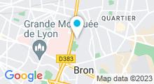 Plan Carte Centre Nautique André Sousi - Piscine à Bron