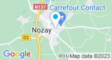 Plan Carte Piscine les bassins de la Chesnaie à Nozay