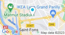 Plan Carte Centre Nautique Lyon, Saint-Fons - Piscine de Venissieux