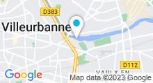 Plan Carte Centre Nautique Etienne Gagnaire - Piscine à Villeurbanne