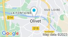 Plan Carte Piscine du Poutyl à Olivet
