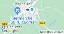 Plan Carte Bassin de natation à Lorris