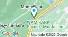 Plan Carte Base de loisirs de Grésy sur Isère