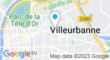 Plan Carte Piscine André Boulloche à Villeurbanne