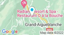 Plan Carte Piscine du Morel à Aigueblanche