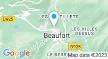 Plan Carte Piscine d'été à Beaufort