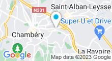 Plan Carte Piscine couverte de Chambéry Métropole