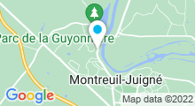 Plan Carte Piscine Camille Muffat à Montreuil Juigné