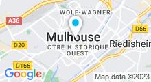 Plan Carte Piscine Pierre et Marie Curie à Mulhouse