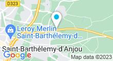 Plan Carte Piscine La Baleine Bleue à St Barthelemy d'Anjou
