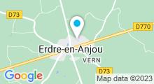 Plan Carte Piscine Les Dauphins à Vern d'Anjou