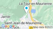 Plan Carte Centre Nautique - Piscine de Saint Jean de Maurienne