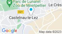 Plan Carte Piscine Christine Caron à Castelnau Le Lez