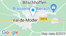 Plan Carte Piscine du Val de Moder à Pfaffenhoffen