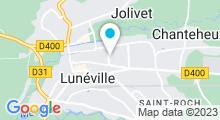 Plan Carte Piscine Aqualun à Lunéville