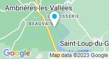 Plan Carte Piscine du parc des loisirs à Ambrières les Vallées