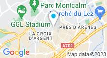 Plan Carte Piscine Jean Vives - Maurin à Montpellier