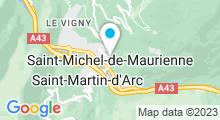 Plan Carte Piscine de Saint Michel de Maurienne