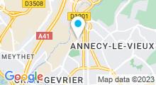 Plan Carte Piscine Jean Régis à Annecy
