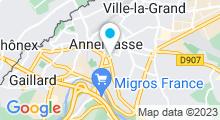 Plan Carte Centre aquatique Château Bleu - Piscine à Annemasse