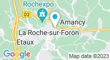 Plan Carte Espace Aqualudique des Foron - Piscine à La Roche sur Foron
