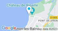 Plan Carte Piscine, plage de Thonon les Bains