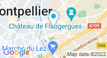 Plan Carte Piscine Alfred Nakache à Montpellier