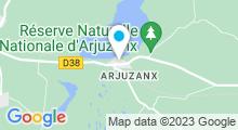 Plan Carte Base de loisirs à Arjuzanx