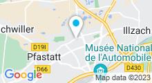 Plan Carte Piscine de Bourtzwiller à Mulhouse
