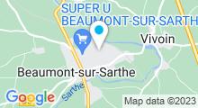 Plan Carte Piscine à Beaumont sur Sarthe