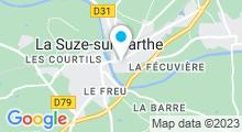 Plan Carte Piscine à la Suze sur Sarthe